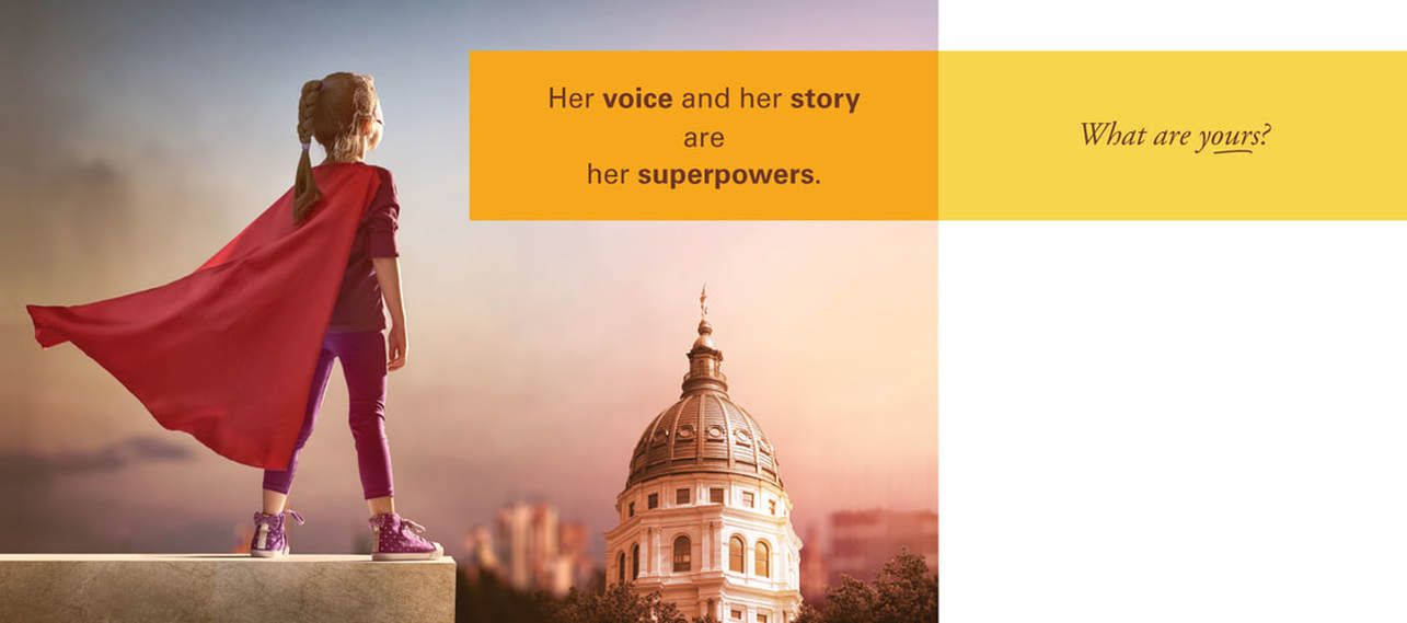 Her voice and her story are her superpowers. What are yours?